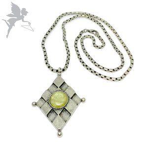 VINTAGE 1970's Art Glass Geometric Necklace